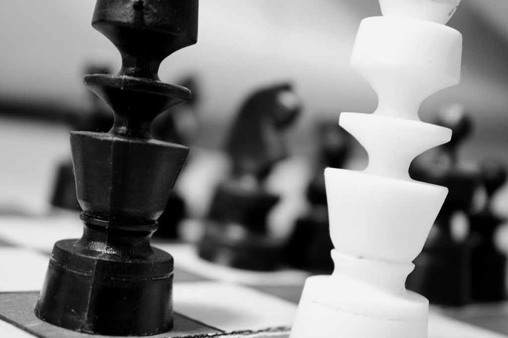black and white game match chess